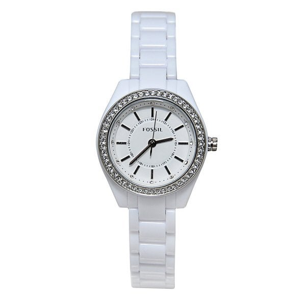 Fossil Women's BQ1199 Glitz Round White Bracelet Watch