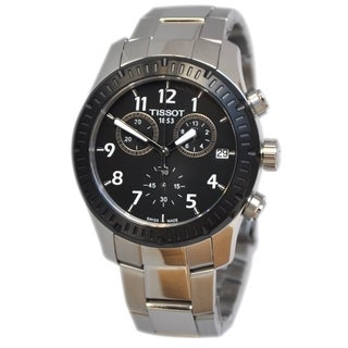 Tissot Men's T0394172105700V8 Black Stainless Steel Chronograph Watch
