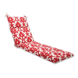 Pillow Perfect Outdoor Bosco Cherry Chaise Lounge Cushion