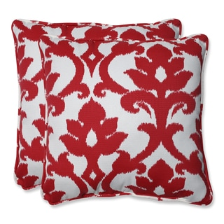 Pillow Perfect Outdoor Bosco Cherry 18.5-inch Throw Pillow (Set of 2)