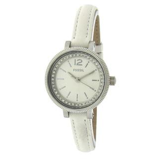 Fossil Women's BQ1203 Mini Crystal White Watch