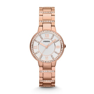 Fossil Women's ES3284 Virginia Rose Goldtone Watch