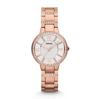 Fossil Women's ES3284 Virginia Rose Goldtone Watch