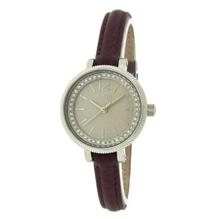 Fossil Women's BQ1205 Crystal Bezel Tan Dial Watch
