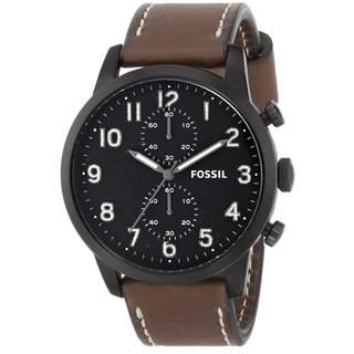 Fossil Men's FS4874 Townsman Brown Chronograph Watch
