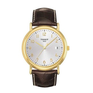 Tissot Men's T9074101603200 'T-Gold Carson' Leather Watch