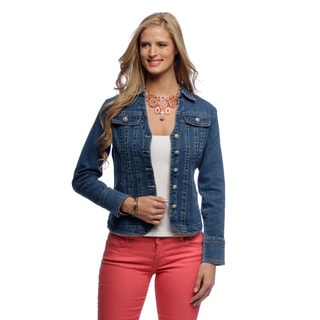 Live a Little Women's Seam Split Collar Jacket