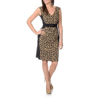 London Times Women's Printed Sheath Dress