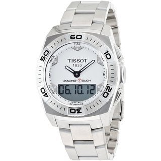 Tissot Men's T0025201103100 Racing Touch Silver Dial Watch