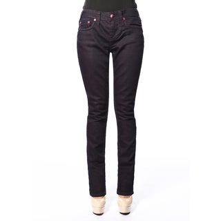 Stitch's Women's Slim Fit Dark Purple Straight Leg Jeans