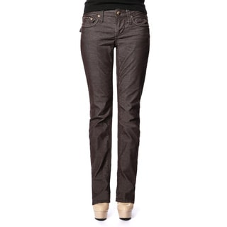 Stitch's Women's Brown Curvy Straight Leg Jeans