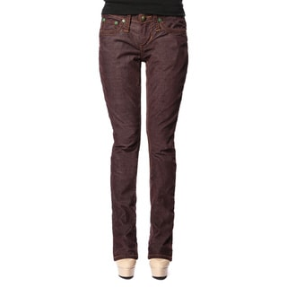 Stitch's Women's Brown Straight-leg Trouser Jeans