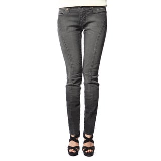 Stitch's Women's Comfort Black Denim Skinny Jeans