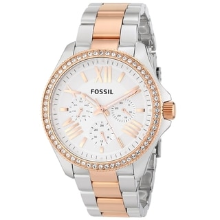 Fossil Women's AM4496 'Cecile' Two-tone Steel Watch