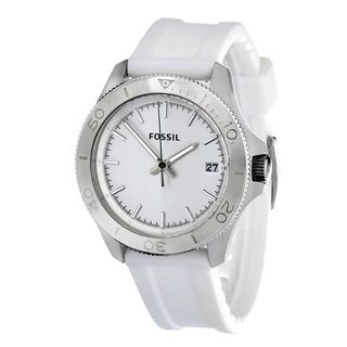 Fossil Men's AM4471 'Retro Traveler' White Silicone Watch
