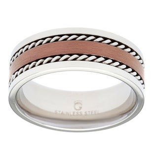Stainless Steel Brown Ion-plated Band