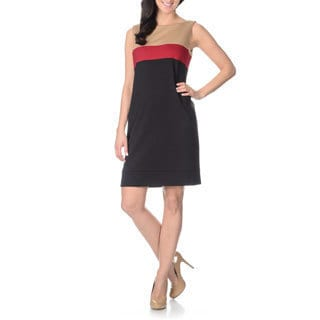 Tahari Arthur S. Levine Women's Color Block Shift Dress