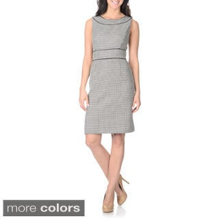 Tahari Arthur S. Levine Women's Houndstooth Print Sheath Dress