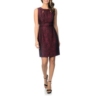 Tahari Arthur S. Levine Women's Jacquard Sheath Dress