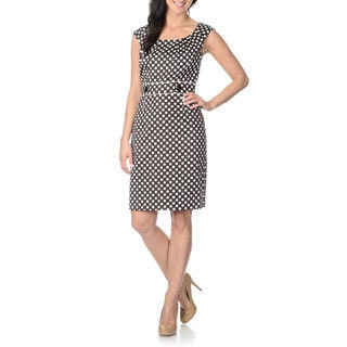 Tahari Arthur S. Levine Women's Polka-dot Sheath Dress