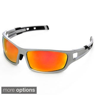 Hot Optix Men's Colored Mirror Lens Sport Sunglasses