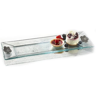 Fifth Avenue Crystal Owls Rectangular Platter