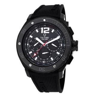 Victory Men's 3558-B V-Ascent Dual Time Zone Black Watch