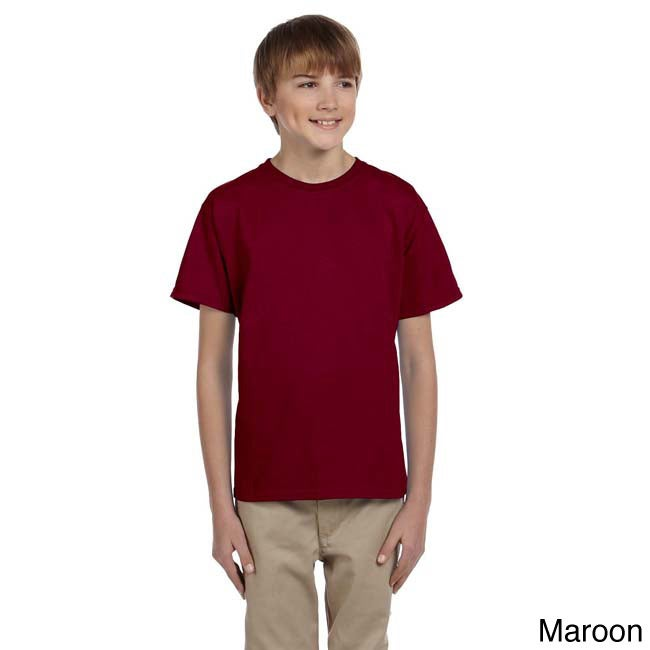 Fruit Of The Loom Fruit Of The Loom Youth Heavy Cotton Hd T shirt Brown Size L (14 16)