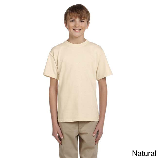Fruit Of The Loom Fruit Of The Loom Youth Heavy Cotton Hd T shirt Beige Size L (14 16)