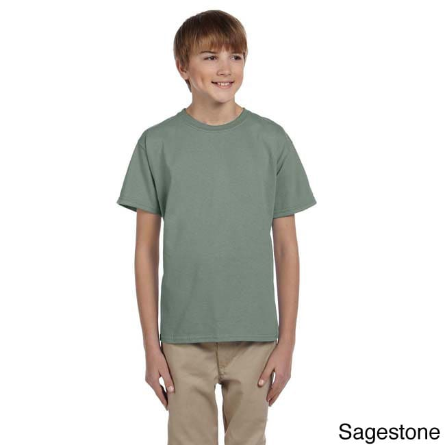 Fruit Of The Loom Fruit Of The Loom Youth Heavy Cotton Hd T shirt Green Size L (14 16)