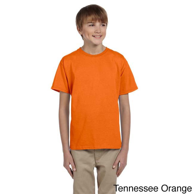 Fruit Of The Loom Fruit Of The Loom Youth Heavy Cotton Hd T shirt Orange Size L (14 16)