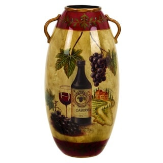 Wine Design Ceramic Vase