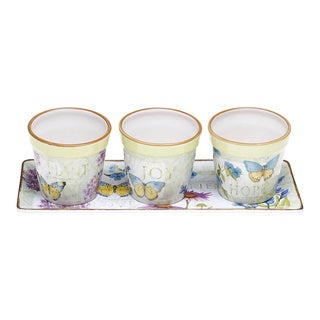 Herb Garden 4-piece Planter Set and Tray