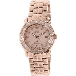 Swiss Precimax Women's SP13328 'Tribeca Diamond' Rose Goldtone Quartz Watch