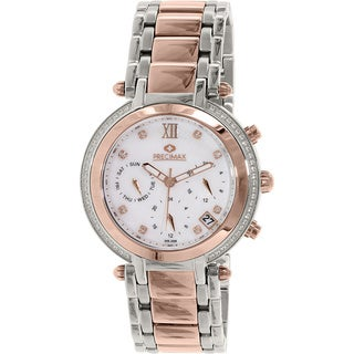 Precimax Women's Glimmer Elite PX13350 Two-tone Mother of Pearl Dial Watch
