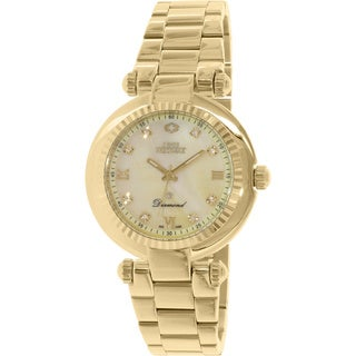Swiss Precimax Women's SP13320 'Avant Diamond' Goldtone Mother of Pearl Dial Watch
