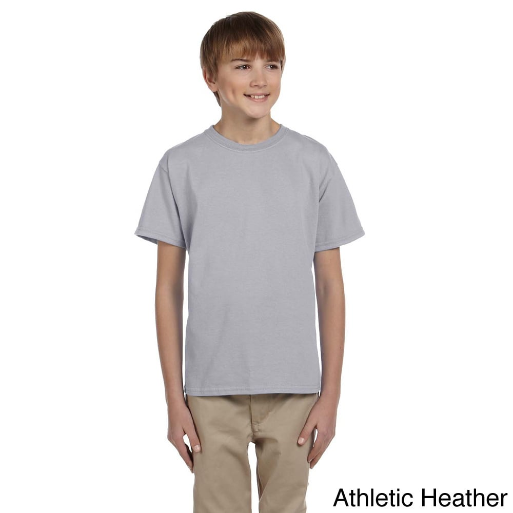 Fruit Of The Loom Fruit Of The Loom Youth Boys Heavy Cotton Hd T shirt Grey Size L (14 16)