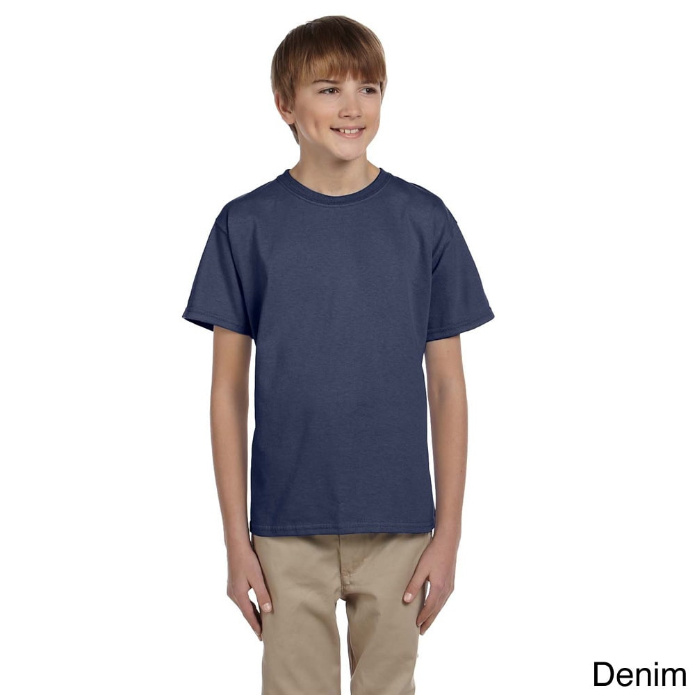 Fruit Of The Loom Fruit Of The Loom Youth Boys Heavy Cotton Hd T shirt Blue Size L (14 16)