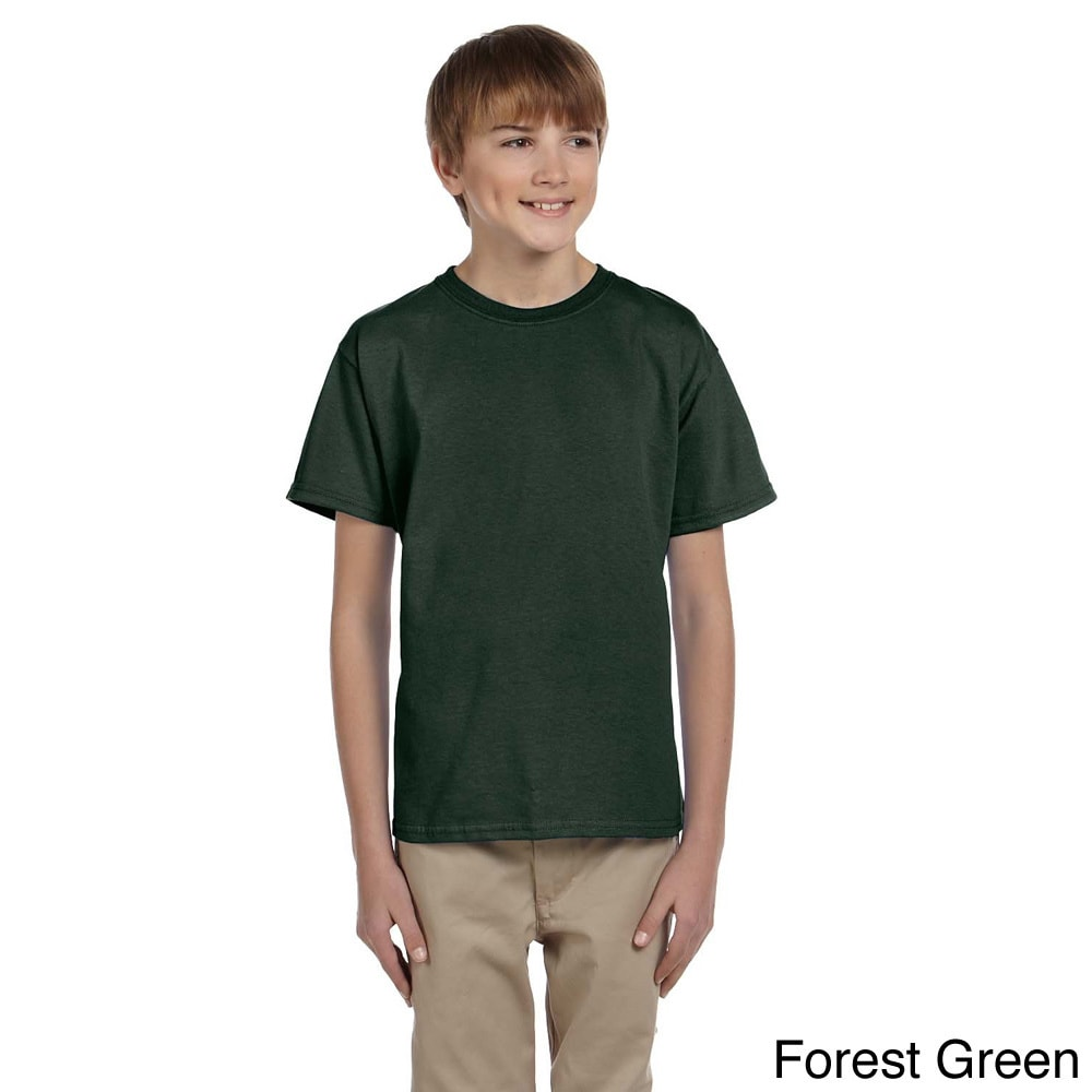 Fruit Of The Loom Fruit Of The Loom Youth Boys Heavy Cotton Hd T shirt Green Size L (14 16)