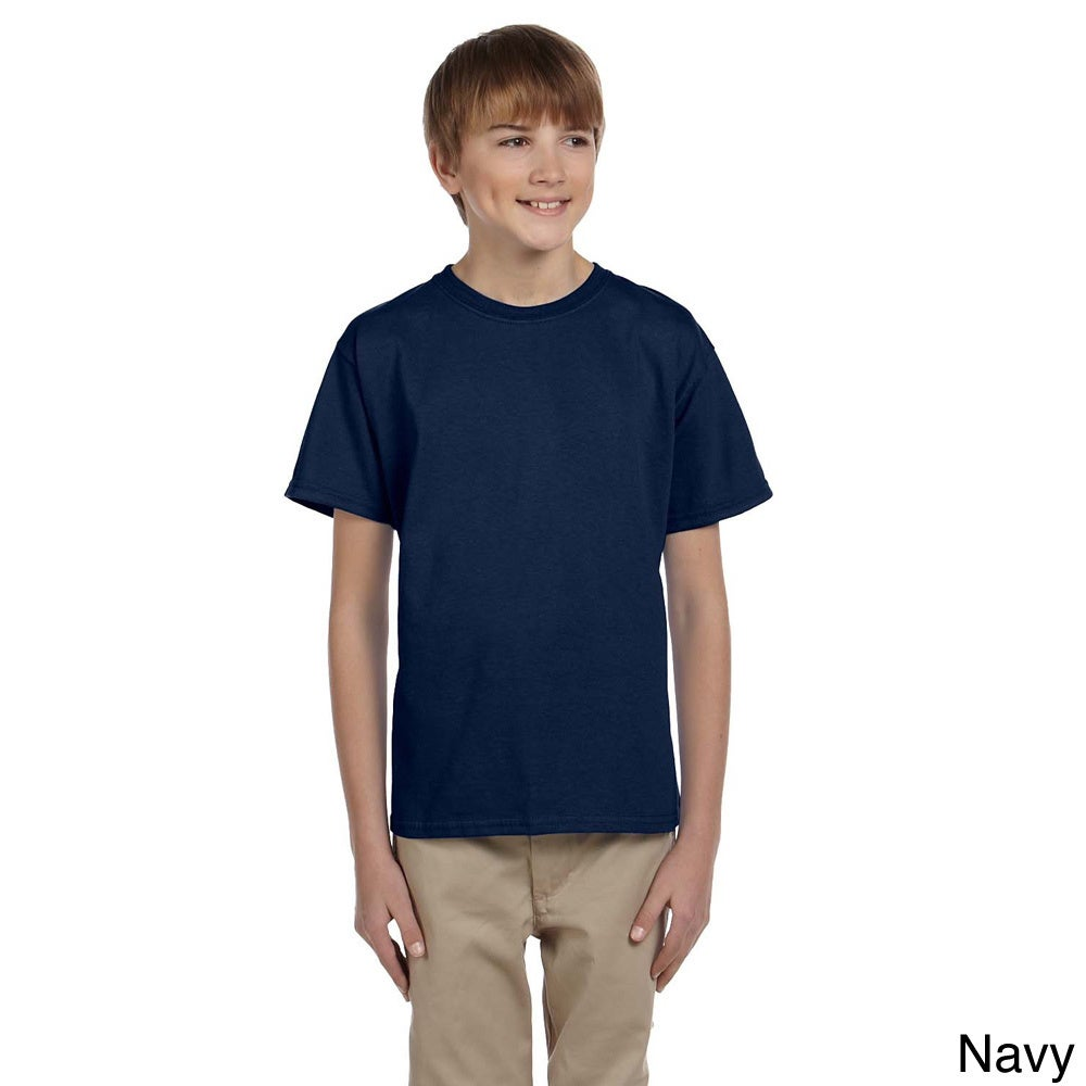 Fruit Of The Loom Fruit Of The Loom Youth Boys Heavy Cotton Hd T shirt Navy Size L (14 16)