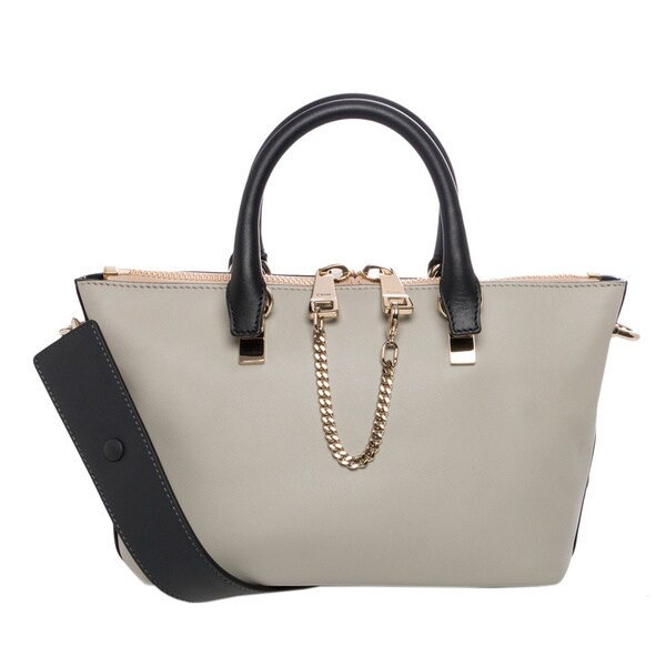 Chloe Mini Baylee Bi-color Shoulder Bag - 16301335 - Overstock.com ...