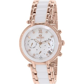 Precimax Women's PX13344 'Glimmer Elite' Two-tone Ceramic Watch