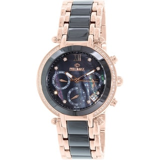 Precimax Women's PX13345 Glimmer Elite Ceramic Two-tone Mother of Pearl Dial Watch