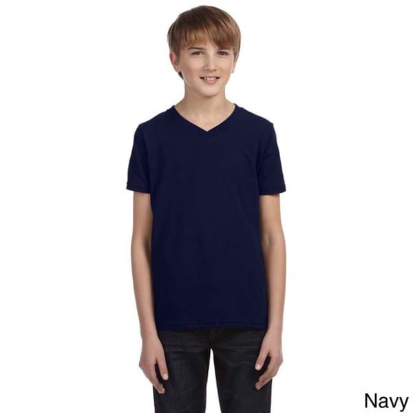 Youth Boy's Jersey Short-Sleeve V-Neck T-Shirt