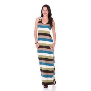Stanzino Women's Racerback Tank Striped Maxi Dress