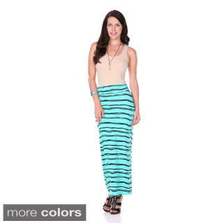 Stanzino Women's Striped Printed High Waisted Skirt