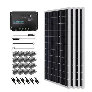 Renogy Solar Starter Kit: 400W Monocrystalline 12V w/ 4 100W Solar Panel/ 20 ft. Ad Kit/ 30A Cnt/ MC