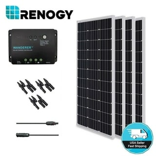 Solar Panel Bundle Kit 400W with 4 100W Mono Solar Pan/ 30A Chrg Con/ MC4 Br Conn/ MC4 Adapter Kit