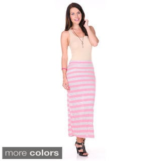 Stanzino Women's Striped Long Skirt