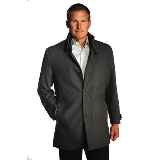 Jean Paul Germain Men's Grey Alpine Overcoat